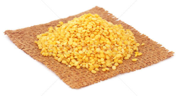 Dry mung bean on jute sack Stock photo © bdspn