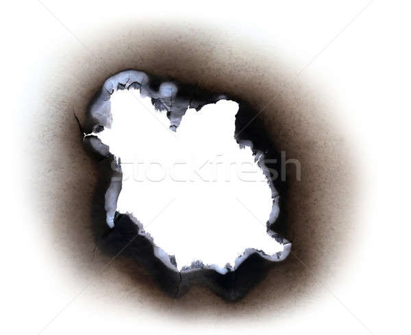 Burn paper Stock photo © bdspn