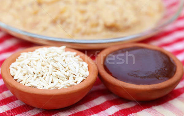 Date molasses with vermicelli payesh  Stock photo © bdspn