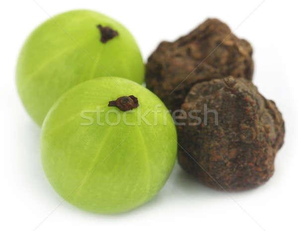 Foto stock: Frutas · secas · verde · branco · comida · Ásia