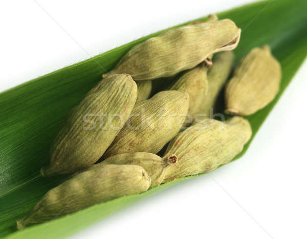 Cardamom seed on green leaf Stock photo © bdspn