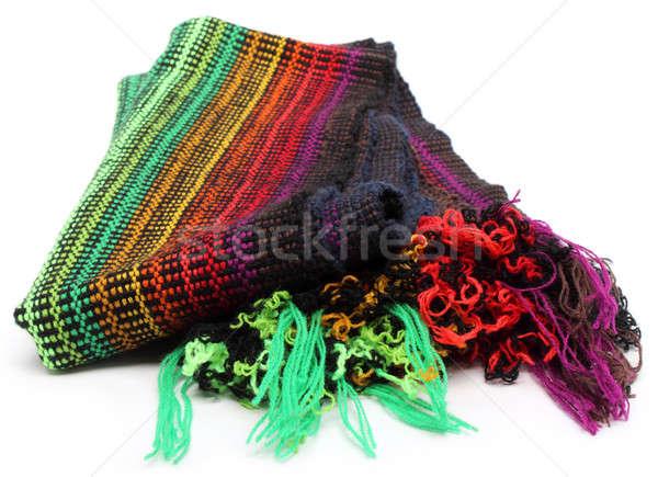 Wollen sjaal witte mode weefsel mooie Stockfoto © bdspn