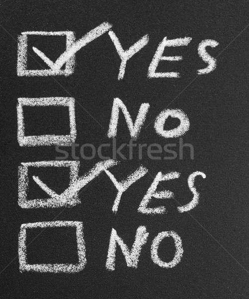 Yes No check box by chalk Stock photo © bdspn