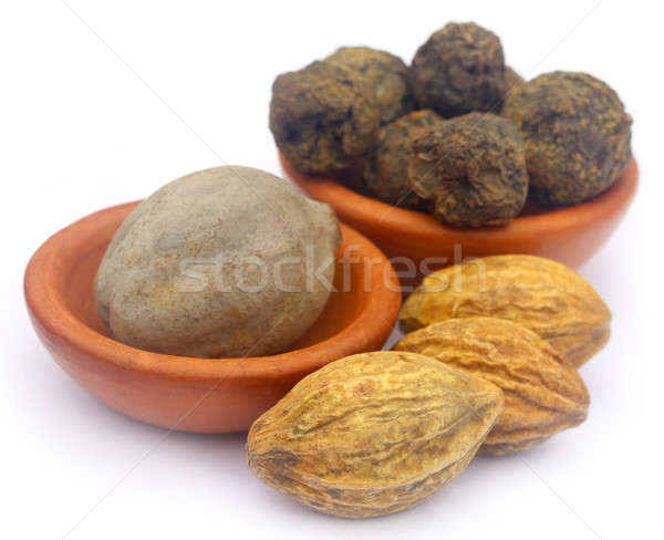 Combinaison fruits sous-continent indien indian bol isolé Photo stock © bdspn