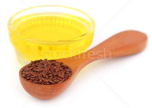 Flax seeds with oil Stock photo © bdspn