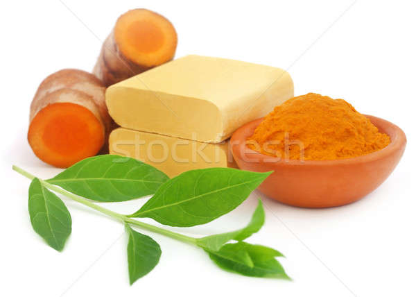 Turmeric with other herbal products for beautification Stock photo © bdspn