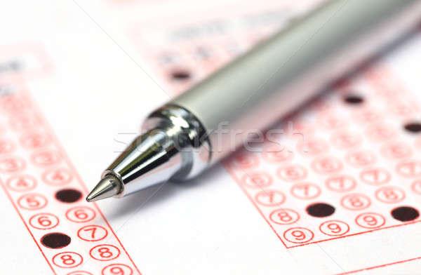 Vulling registratie vorm student onderwijs communicatie Stockfoto © bdspn