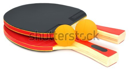Table tennis ball with bat Stock photo © bdspn