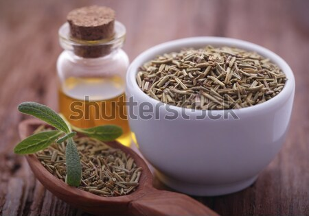 Hennep olie fles medische natuur Stockfoto © bdspn