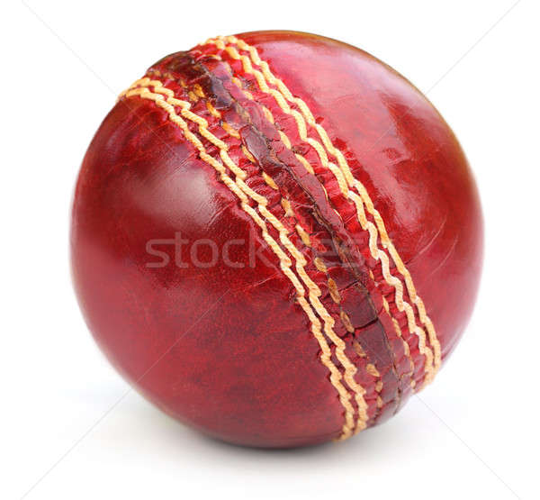Macro of a cricket ball seam  Stock photo © bdspn