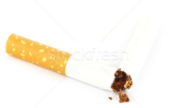 Tabak gescheurd sigaret witte papier arts Stockfoto © bdspn