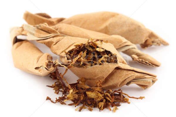 Dohány papír fehér orvos orvosi szív Stock fotó © bdspn