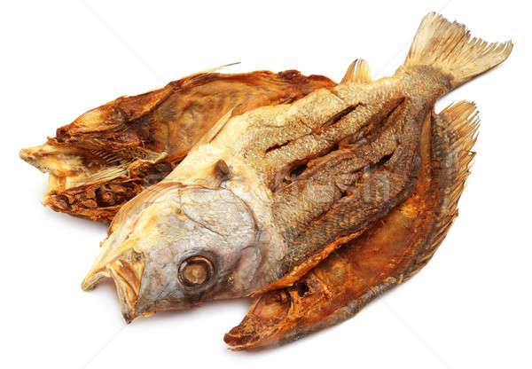 Getrocknet Fisch Südostasien weiß Sonne Fluss Stock foto © bdspn