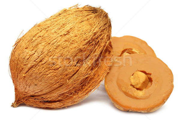 Coconut with Hard molasses Stock photo © bdspn