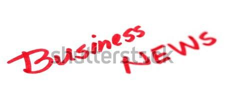 """business news"" written in white background Stock photo © bdspn"