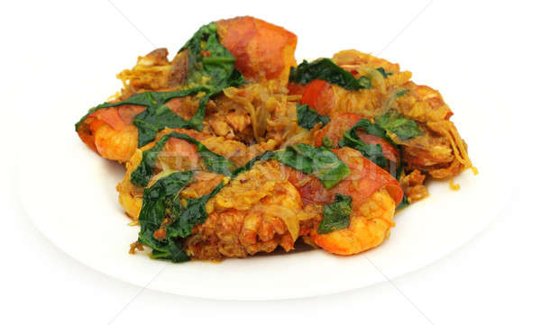 Spicy shrimp curry Stock photo © bdspn
