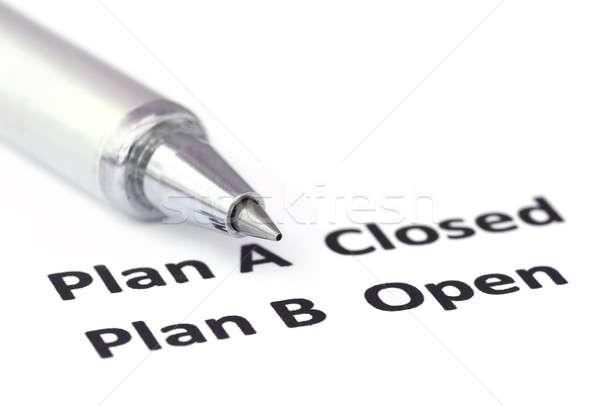 Vurgu plan b gümüş siyah başarı beyaz Stok fotoğraf © bdspn