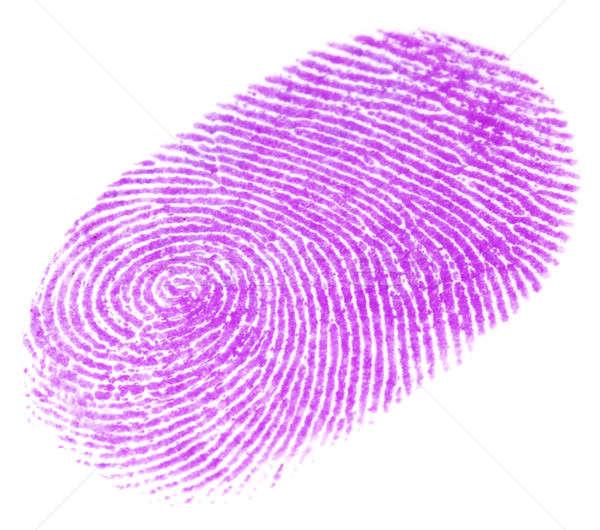 отпечатков пальцев аннотация дизайна чернила белый шаблон Сток-фото © bdspn