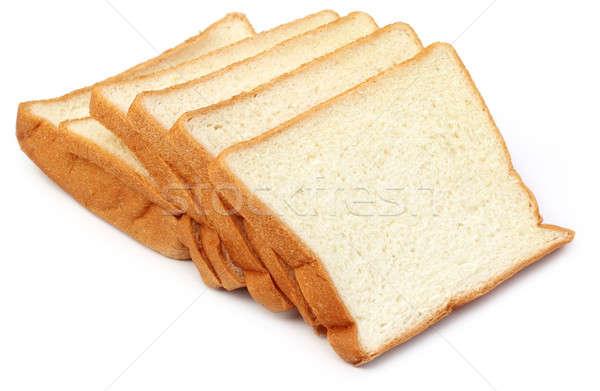 świeże biały chleba jedzenie nasion Zdjęcia stock © bdspn