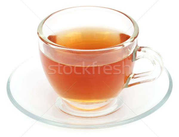 Chá medicinal copo branco vidro saúde fundo Foto stock © bdspn