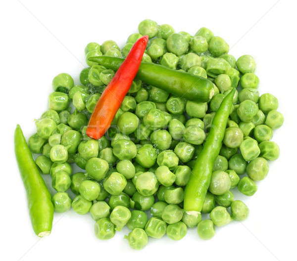 Frozen green peas with chilies Stock photo © bdspn