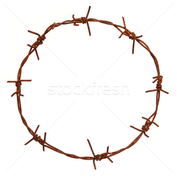 Rusty barbed Stock photo © bdspn