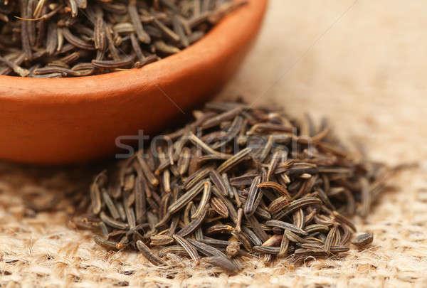 Karwij zaden kom aardewerk natuurlijke Stockfoto © bdspn
