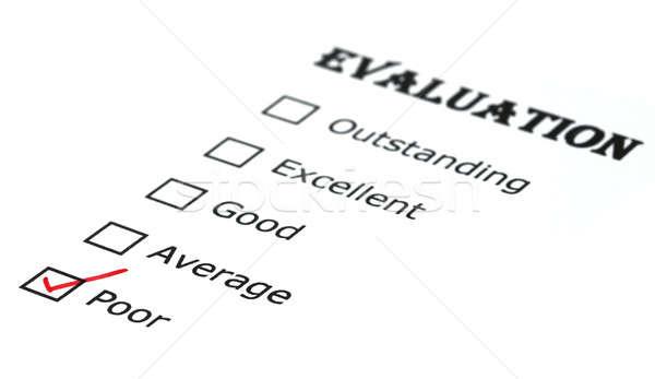 Evaluación comprobar cuadro blanco papel oficina Foto stock © bdspn