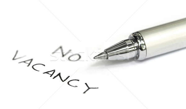 No vacancy written on a white paper Stock photo © bdspn
