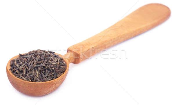 Kminek nasion biały łyżka naturalnych Zdjęcia stock © bdspn