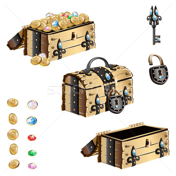 treasure chest with forged decorated Stock photo © bedlovskaya