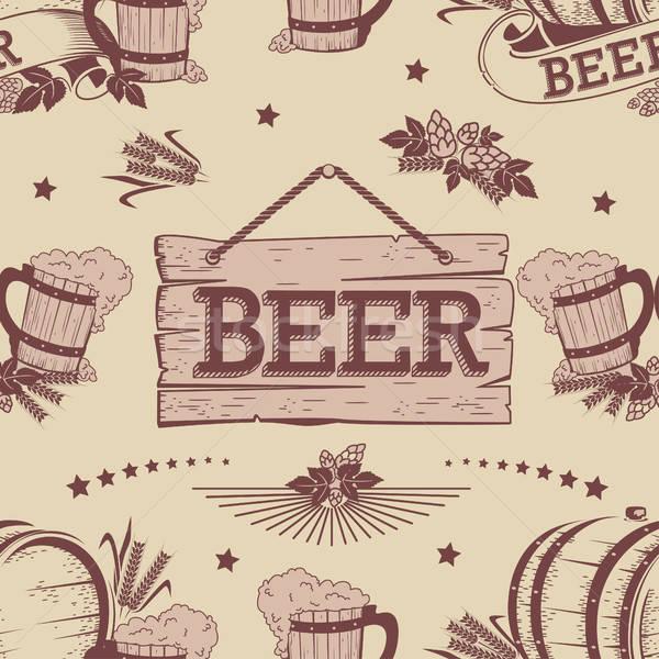 Cerveja vintage textura mão festa Foto stock © bedlovskaya