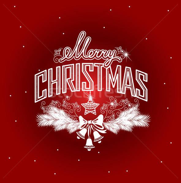 Allegro Natale pizzo design frame Foto d'archivio © bedlovskaya