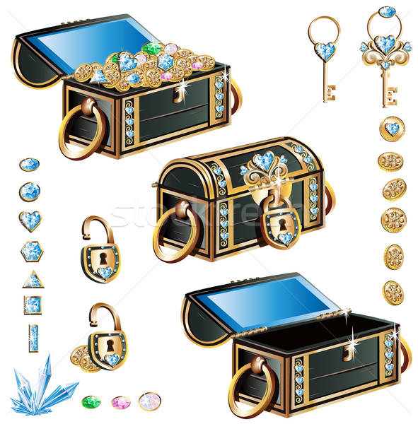 treasure chest Stock photo © bedlovskaya