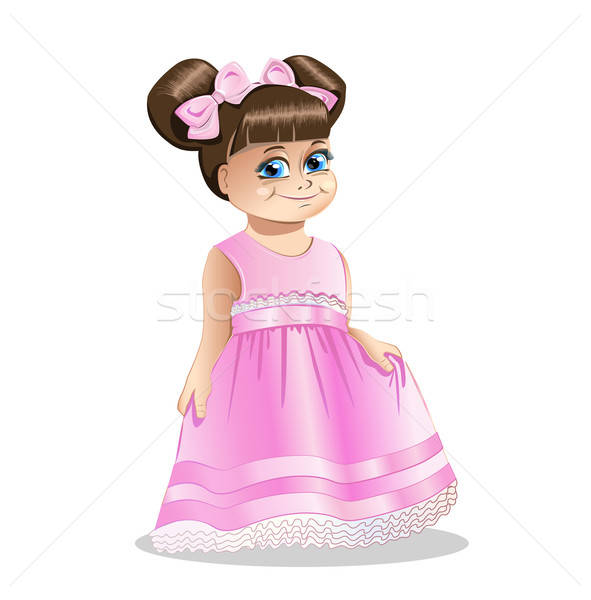 little girl princess Stock photo © bedlovskaya
