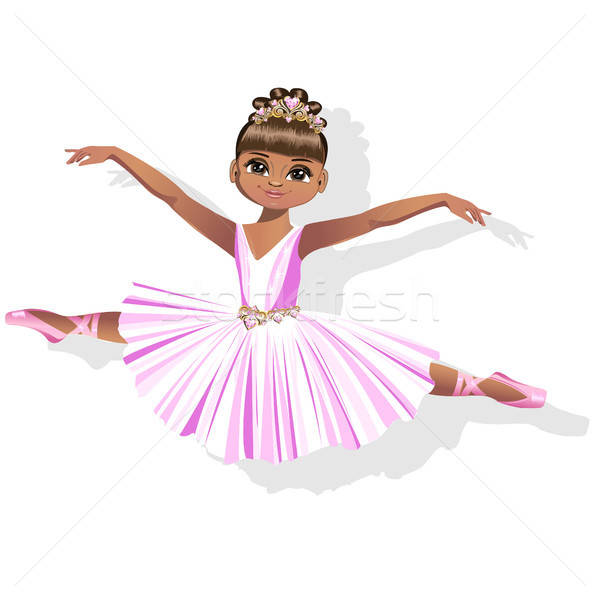sweet little ballerina in a shiny dress and a beautiful tiara Stock photo © bedlovskaya
