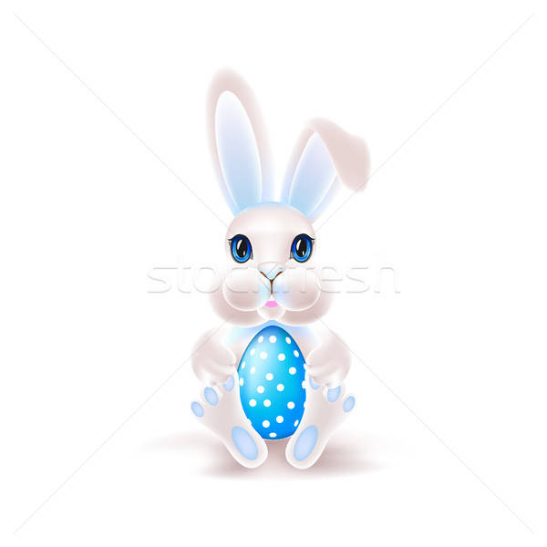 Cute coniglio pasquale uovo colorato Pasqua coniglio Foto d'archivio © bedlovskaya