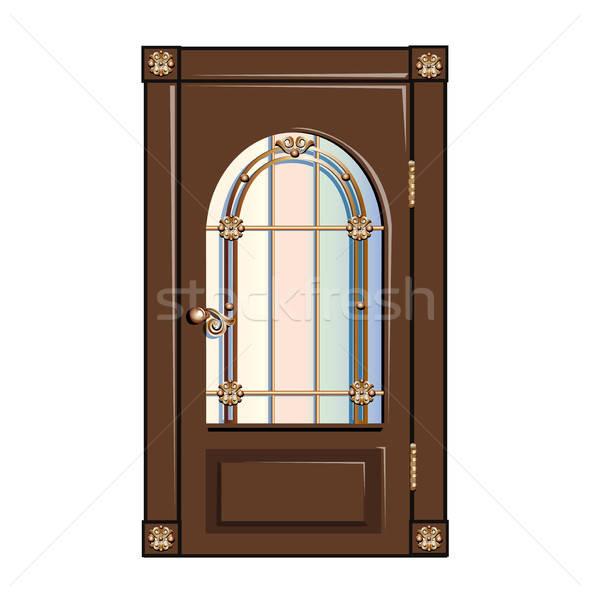 Vintage door Stock photo © bedlovskaya