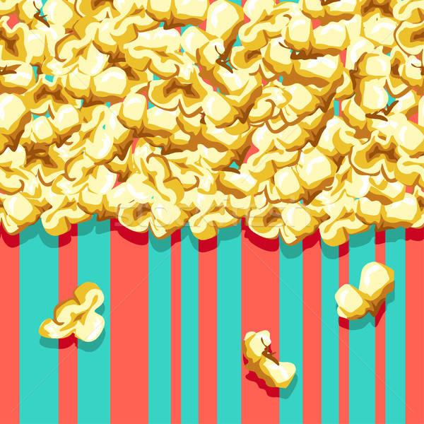 Popcorn pattern colorato senza soluzione di continuità carta Foto d'archivio © bedlovskaya