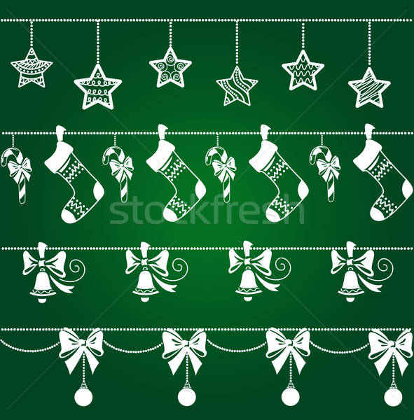 Christmas ornamenten decoraties ingesteld ontwerp communie Stockfoto © bedlovskaya