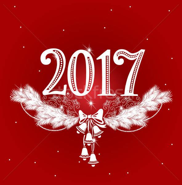New Year openwork design Stock photo © bedlovskaya