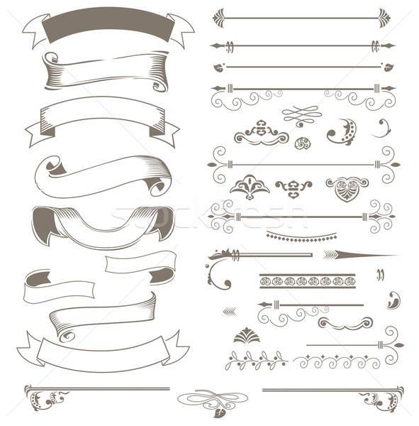 Vintage ribbons and design elements  Stock photo © bedlovskaya