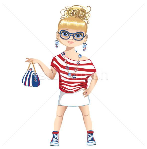 лет девушки моде ребенка тело морем Сток-фото © bedlovskaya