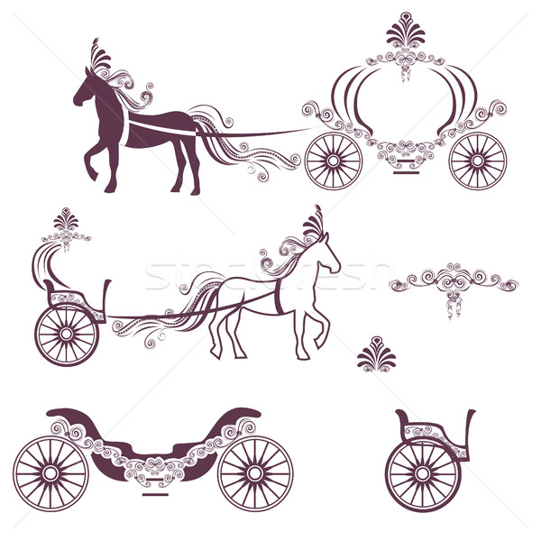Horse with a carriage Stock photo © bedlovskaya