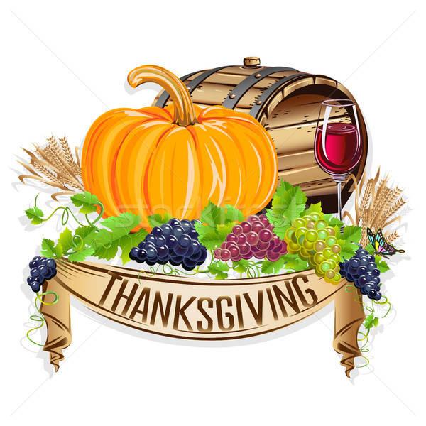 Happy Thanksgiving day Stock photo © bedlovskaya