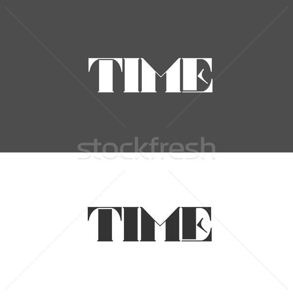 time logo made up of letters Stock photo © bedlovskaya