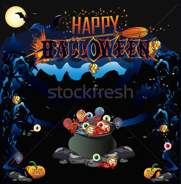Halloween poster background Stock photo © bedlovskaya