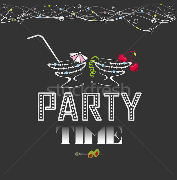 Stock photo: party time poster
