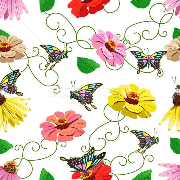 Bloemen voorjaar mode natuur tuin Stockfoto © bedlovskaya
