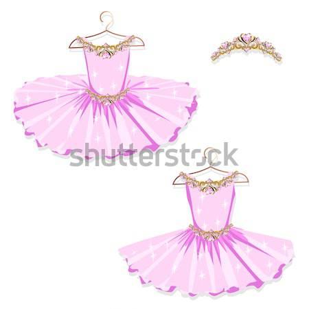 Dans jurk hanger vrouw meisje schoonheid Stockfoto © bedlovskaya